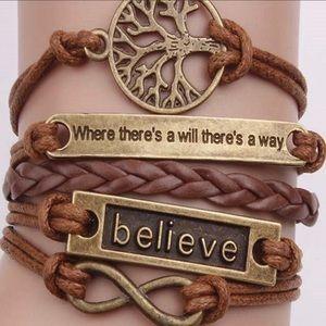 Bracelet women's inspirational Believe
